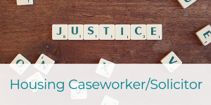 Job Advert. Reads: we need a hand, could you be our next housing or community care caseworker. Maternity Cover post. Click to apply